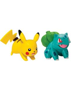 Pokemon battle figures - Bulbasaur vs Pikachu
