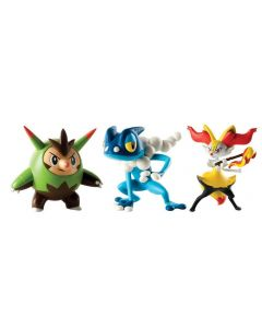 Pokemon figures 3-pack - Quilladin, Braixen and Frogadir