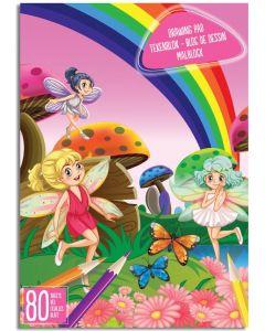 Tegneblokk A4 - 80 ark - fairy