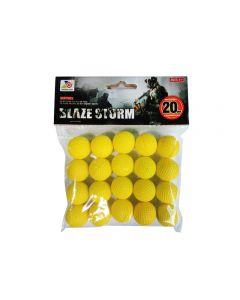 Blaze Storm foam balls refill - 20 stk